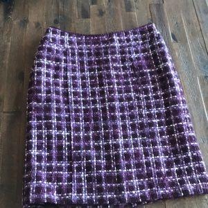 Winter woven purple skirt